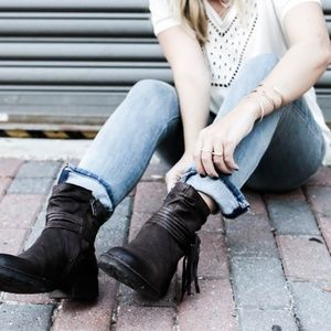Born ankle boots with tassel